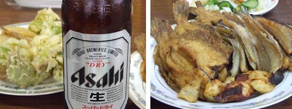 宴席でのビールと料理~仏照寺