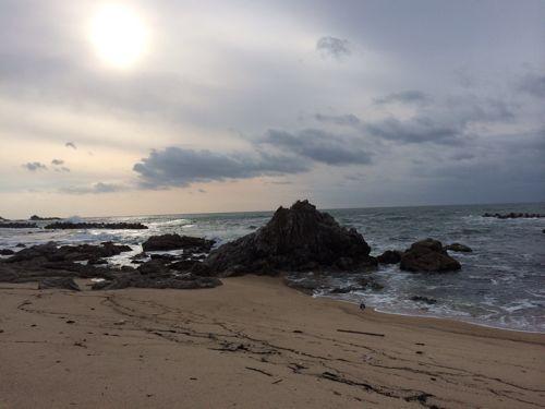 平成26年1月3日の笹川流れの海。